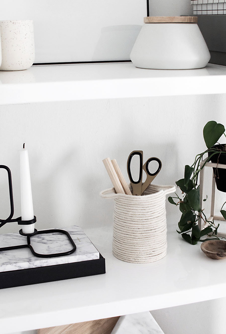 diy small rope basket homey oh my