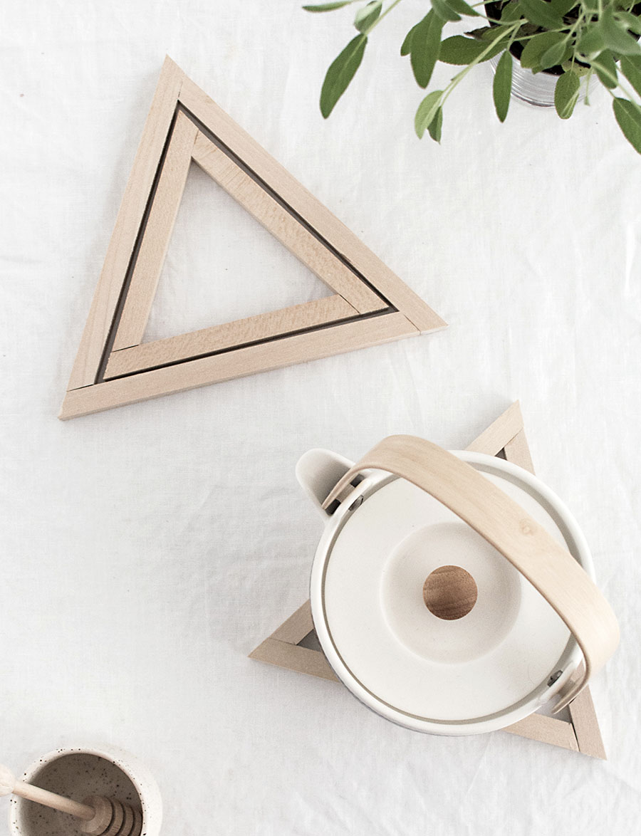 diy wood triangle trivets homey oh my