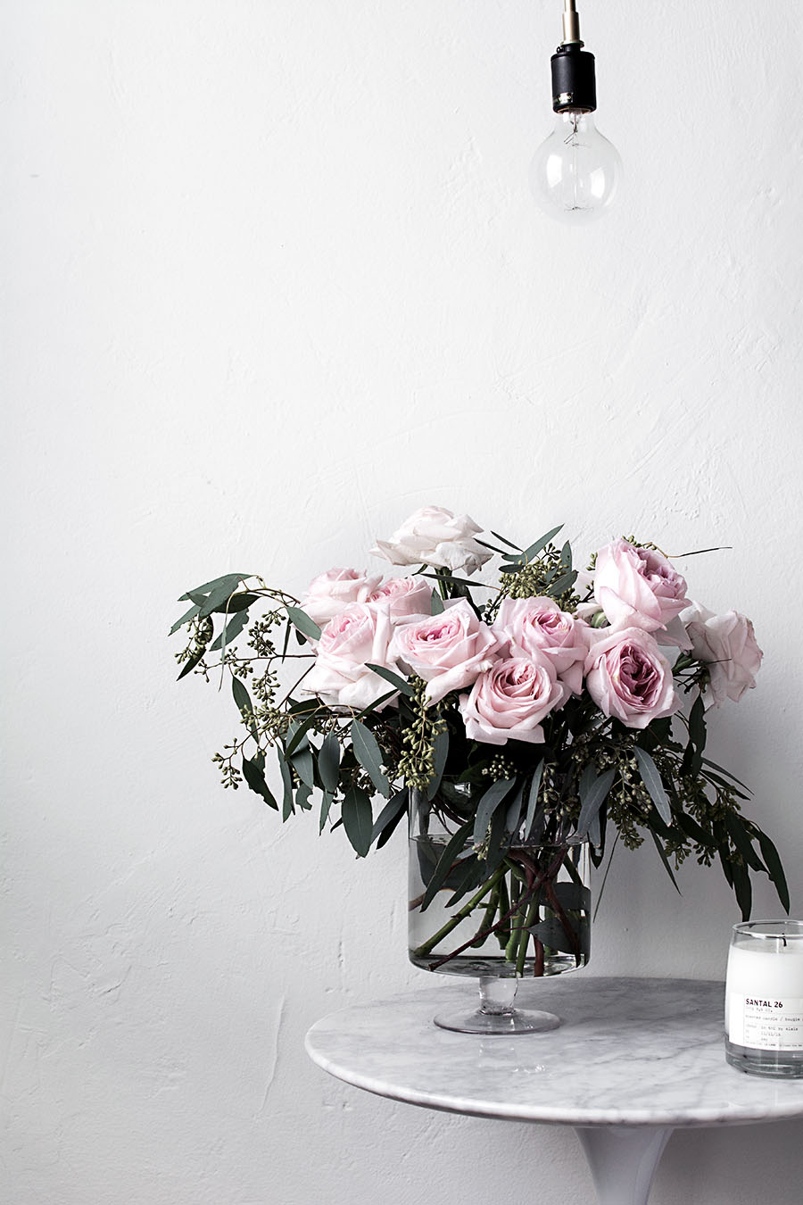 Simple tips for arranging flowers at home homey oh my actually ill get into it a tiny bit to explain my usual choice for greens i love using seeded eucalyptus because the seedy parts act like filler flowers izmirmasajfo