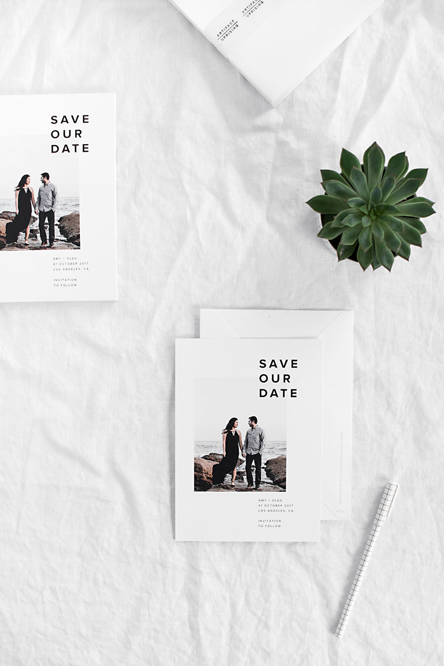 our save the dates with artifact uprising homey oh my