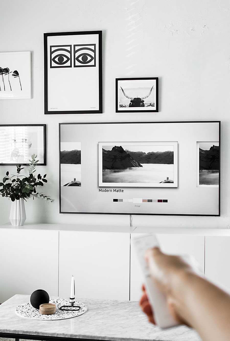 Picture Frames On Wall Layouts Ikea Ribba Frames Layout Black And ...
