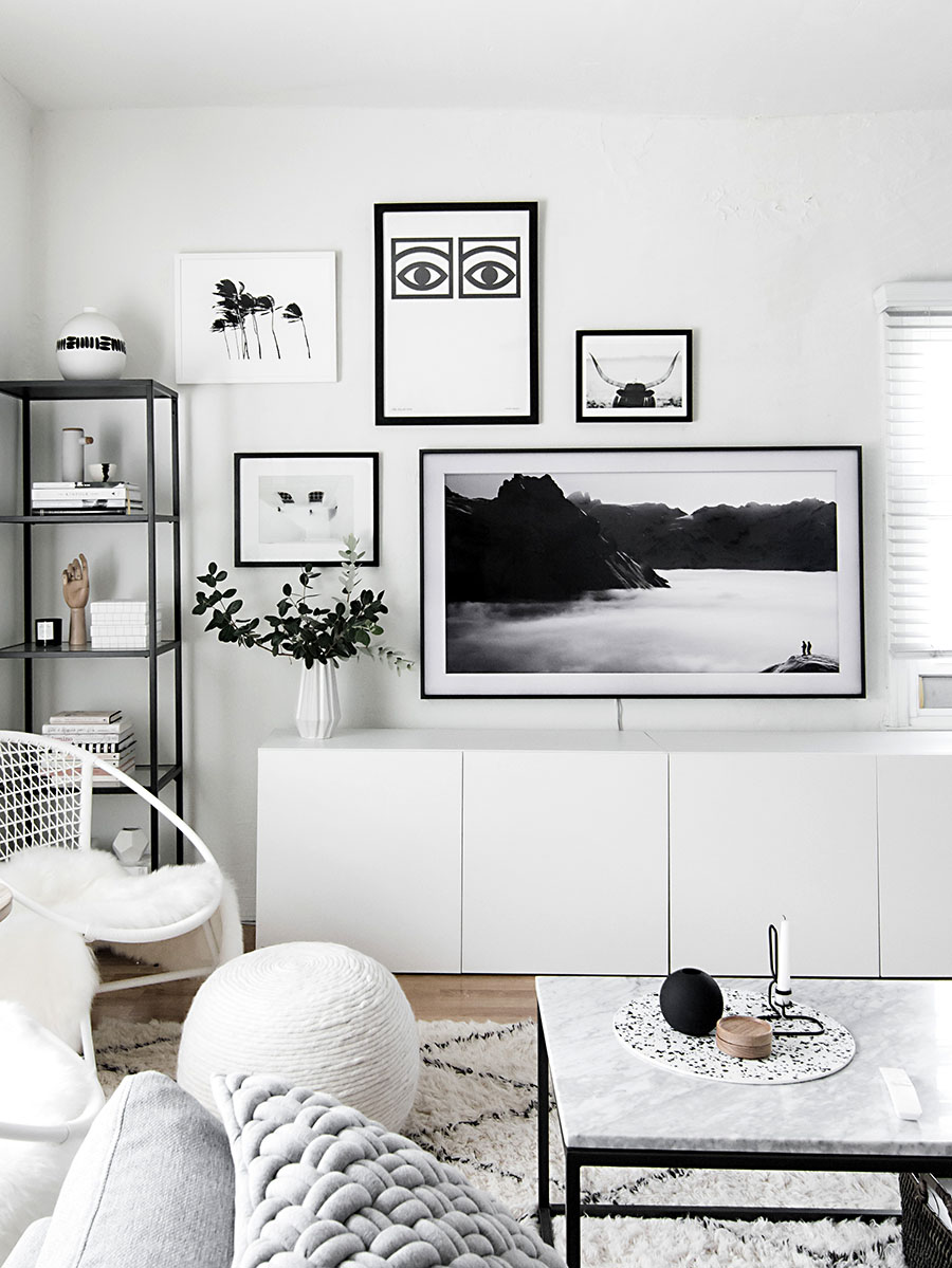 Gallery Wall Update: A TV That Matches Our Decor - Homey Oh My
