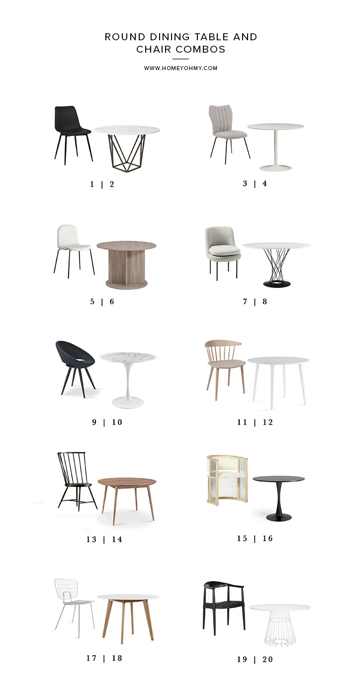 Round Dining Table And Chair Combos Homey Oh My