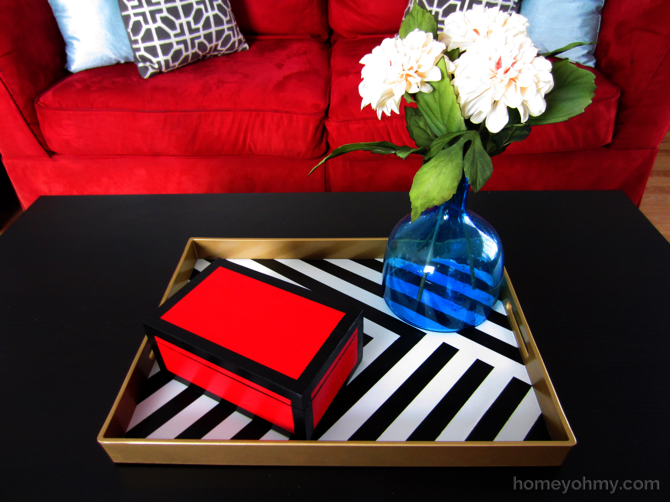 Diy Painted Tray Homey Oh My