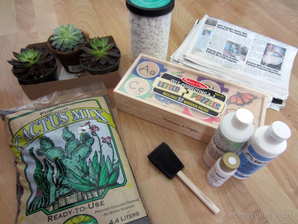 Succulent Box Materials