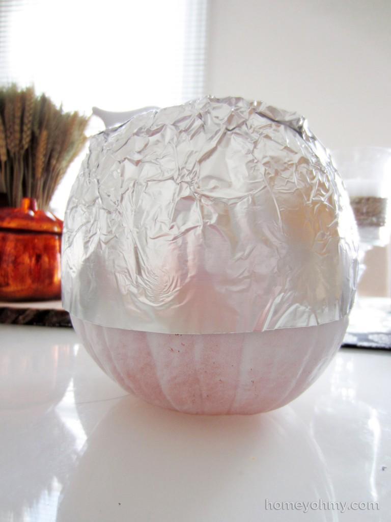 Aluminum Foil Pumpkin