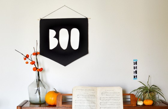 Boo Banner A Beautiful Mess