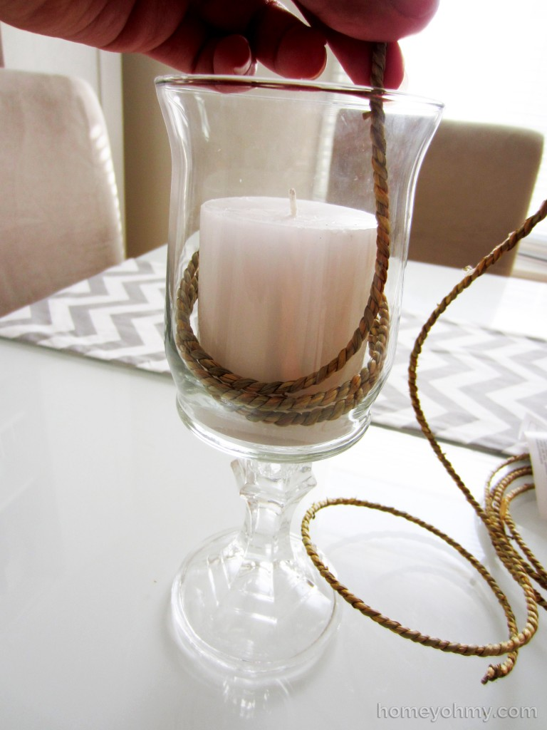 DIY Candle Holders Rope