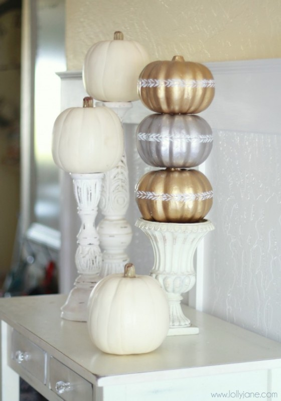 Gilded Pumpking Topiary Lolly Janee