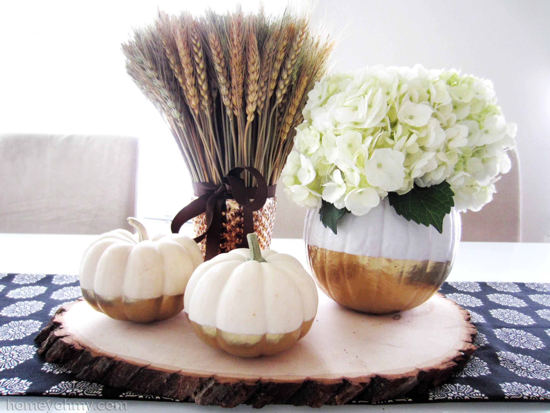 Diy Gold Dipped Pumpkin Vase Homey Oh My