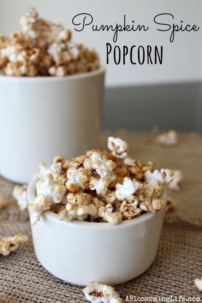 Pumpkin Spice Popcorn A Blossoming Life