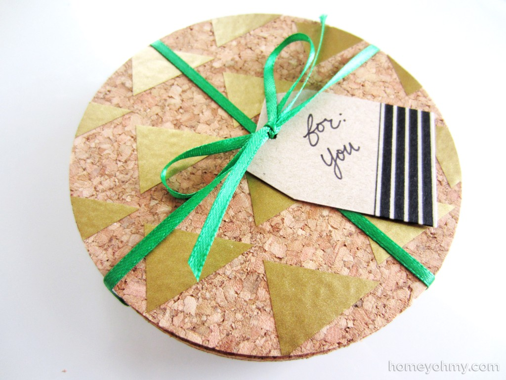 Coasters gift wrapped