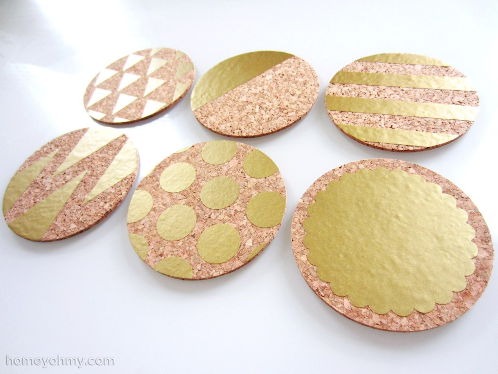 DIY Gold Vinyl Coasters 6