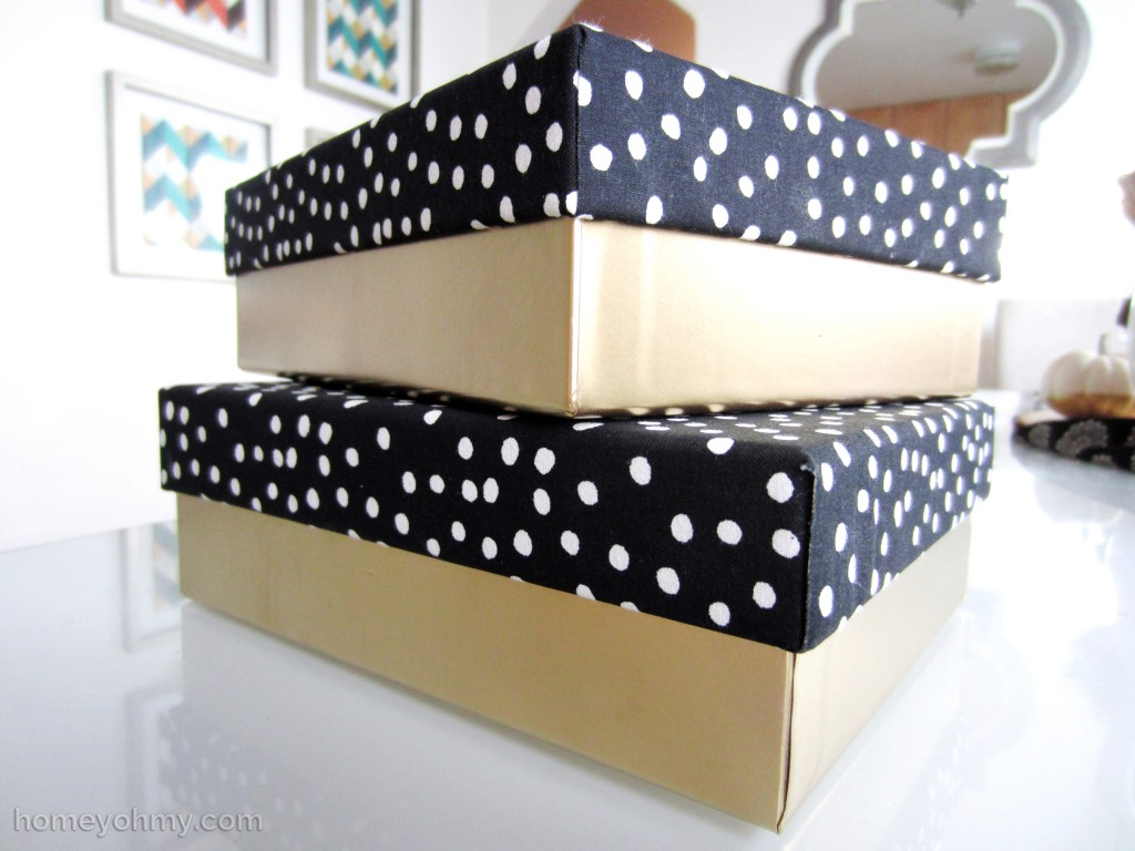 Fabric lid boxes 2