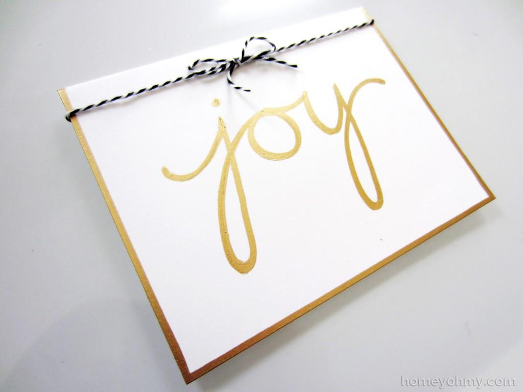 Joy card with bow