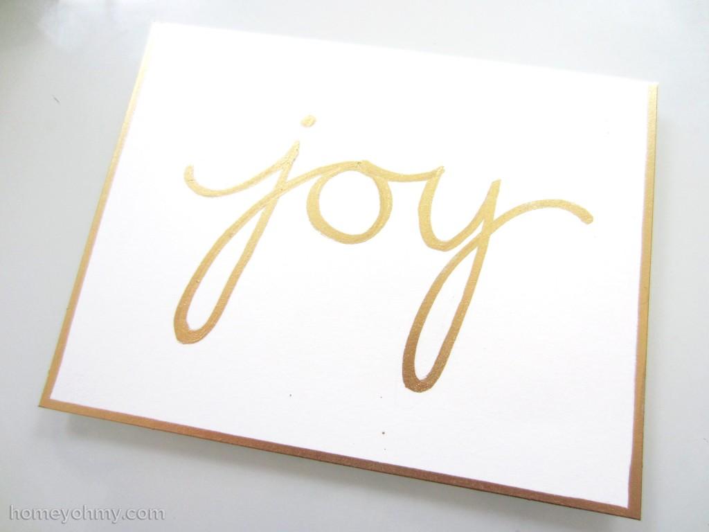 Joy in gold leaf