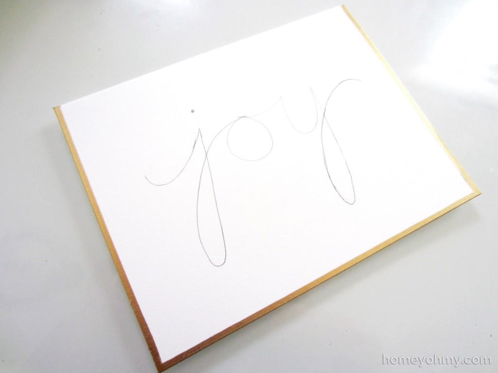 Joy in pencil