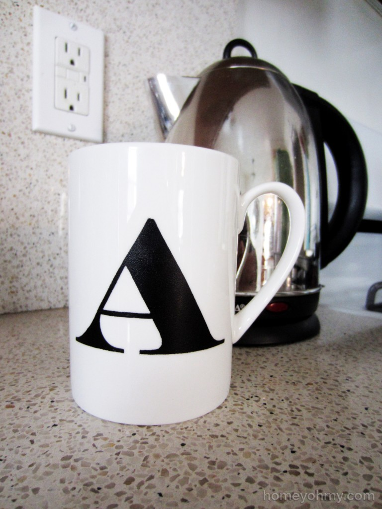 Diy Monogrammed Cup Homey Oh My