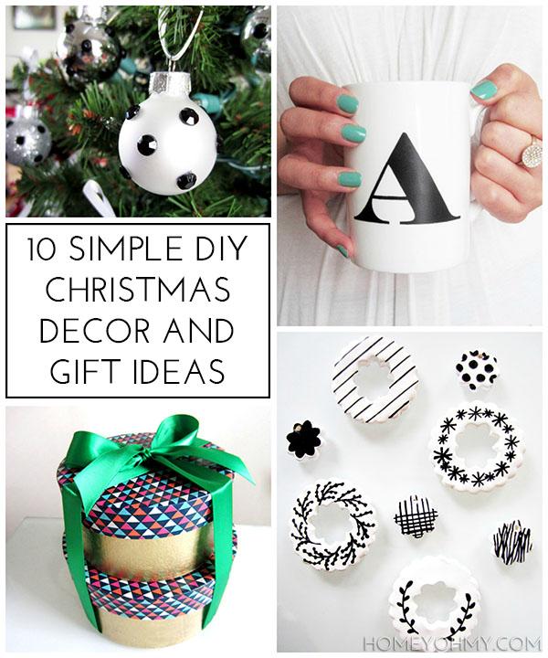 10 Simple DIY Christmas Decor and Gift Ideas