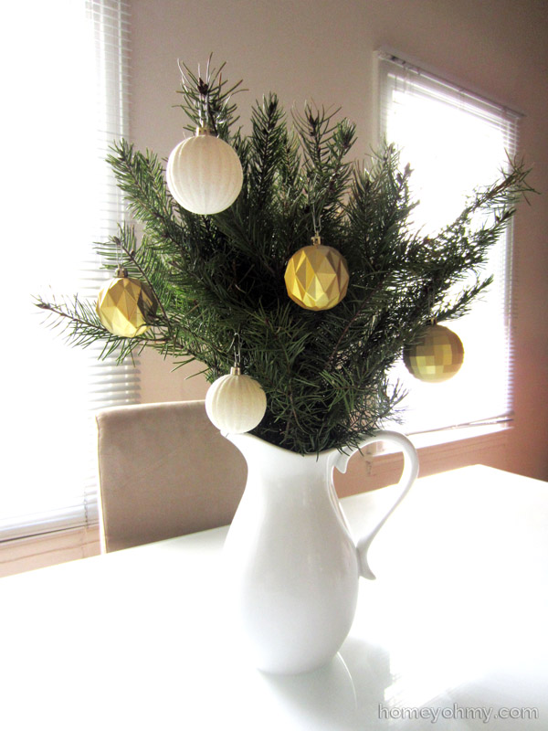 Evergreen with ornaments