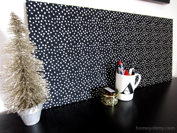 Diy Fabric Covered Magnet Board Homey Oh My