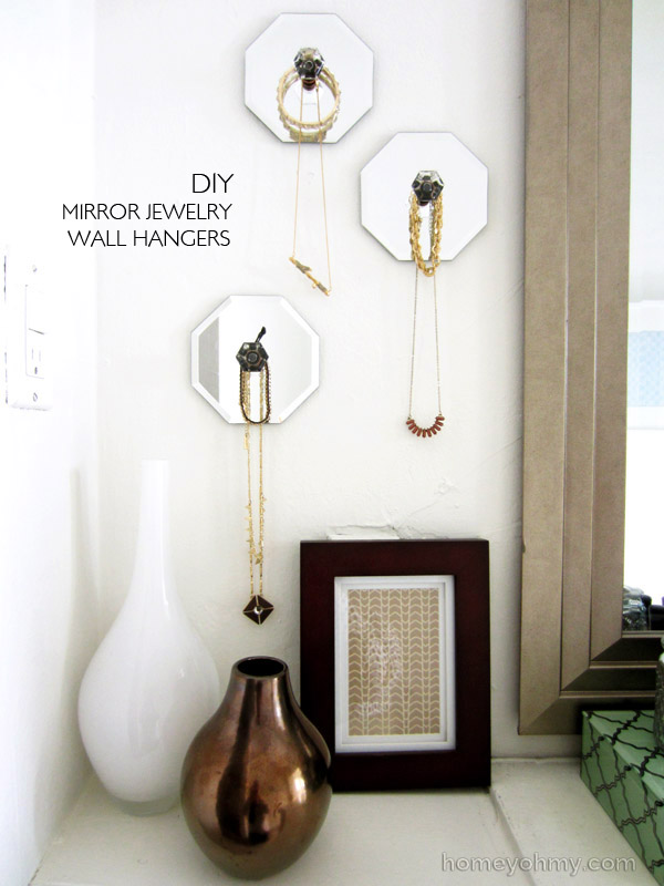 DIY Mirror Jewelry Wall Hangers