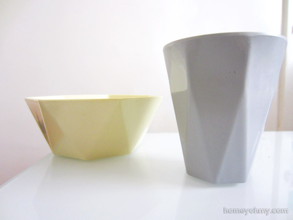 Geo bowl and cup