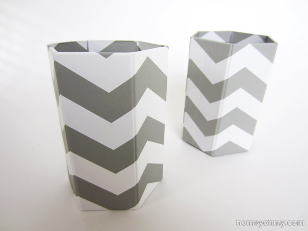 Target Chevron Pencil Cups