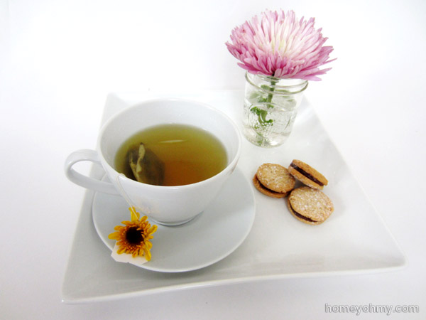 Tea and Cookies with flowers
