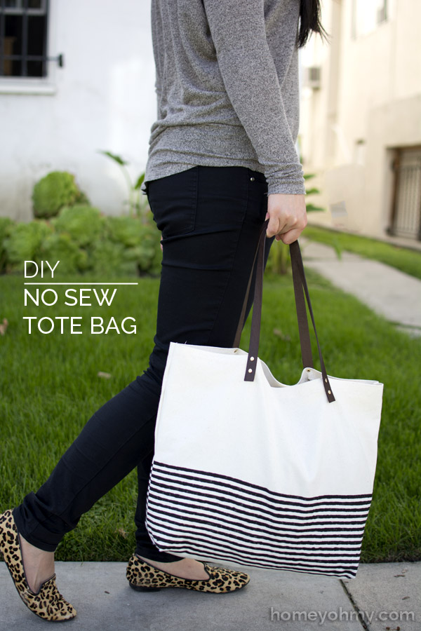 DIY No Sew Canvas Tote from Homey oh My