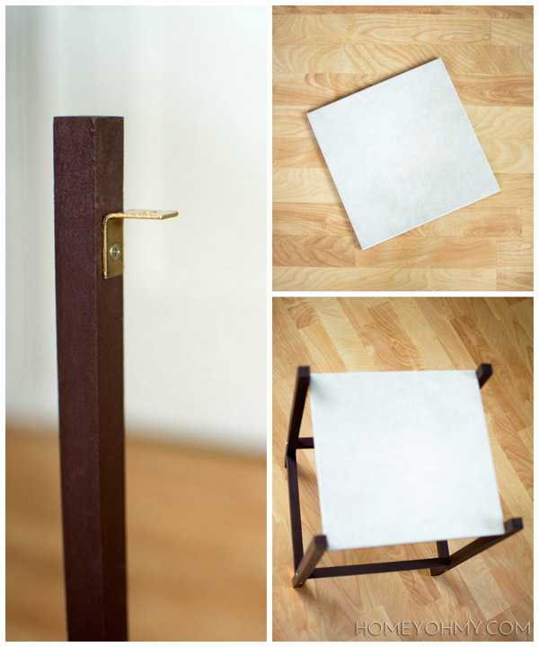 Applying a tile tabletop @homeyohmy