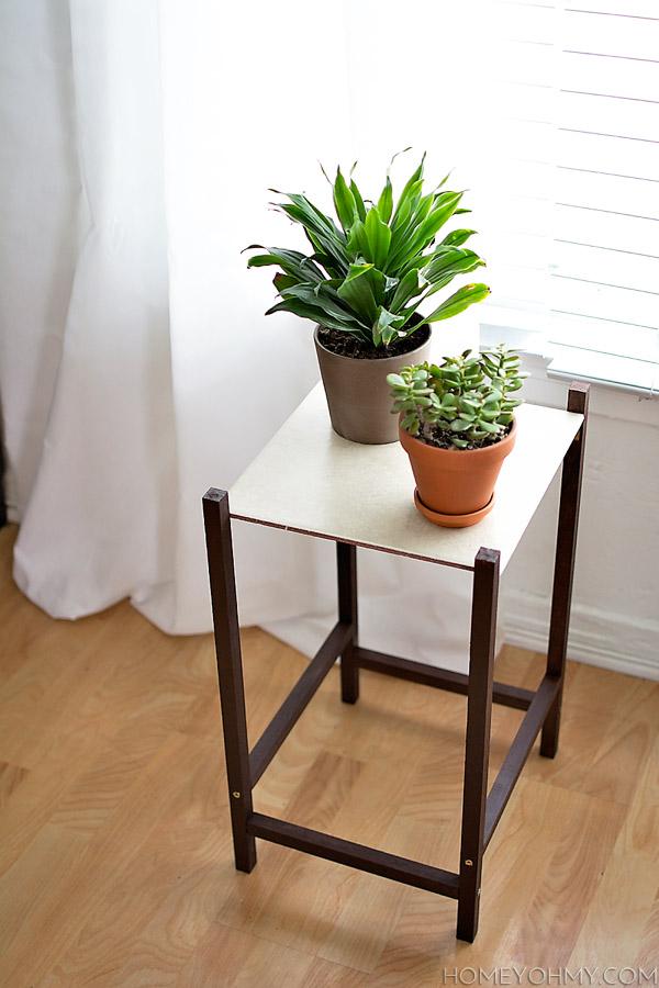 Modern Plant Stand DIY @homeyohmy