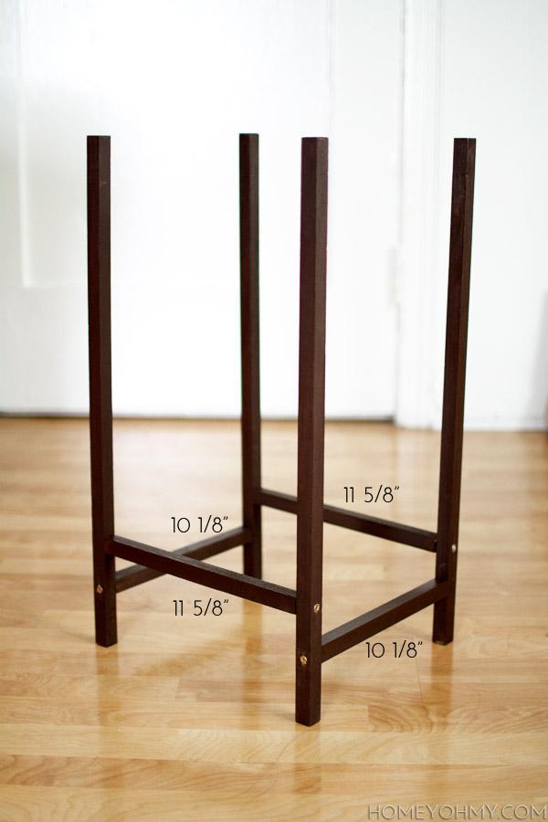 DIY modern plant stand frame @homeyohmy