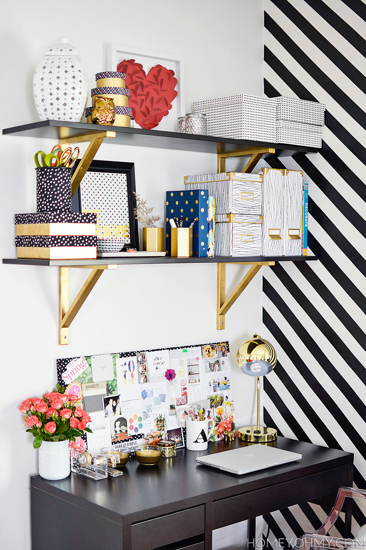 Work space shelves