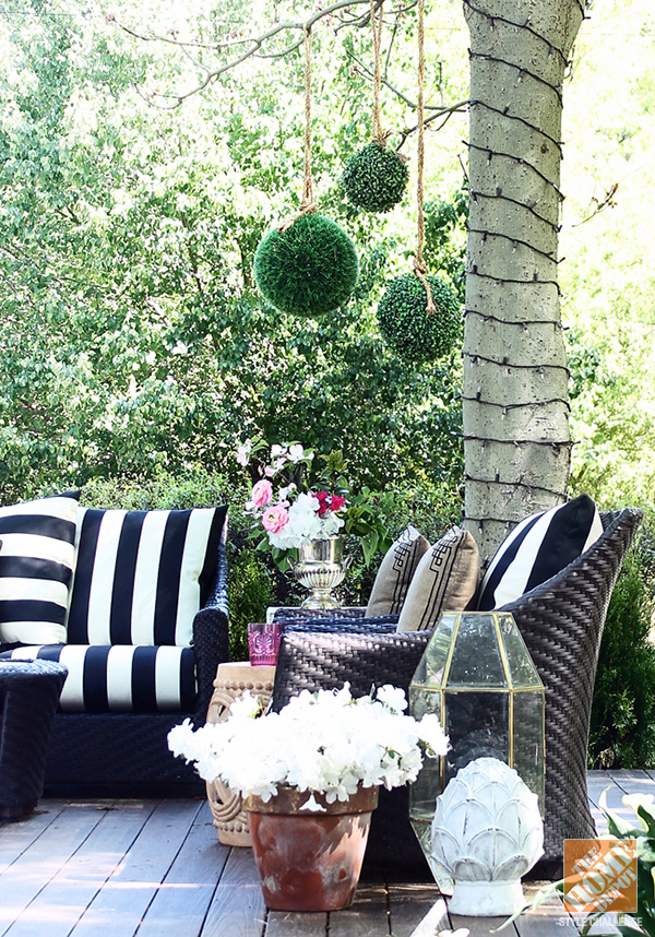 Patio Style - Homey Oh My on Black And White Patio Ideas id=98689
