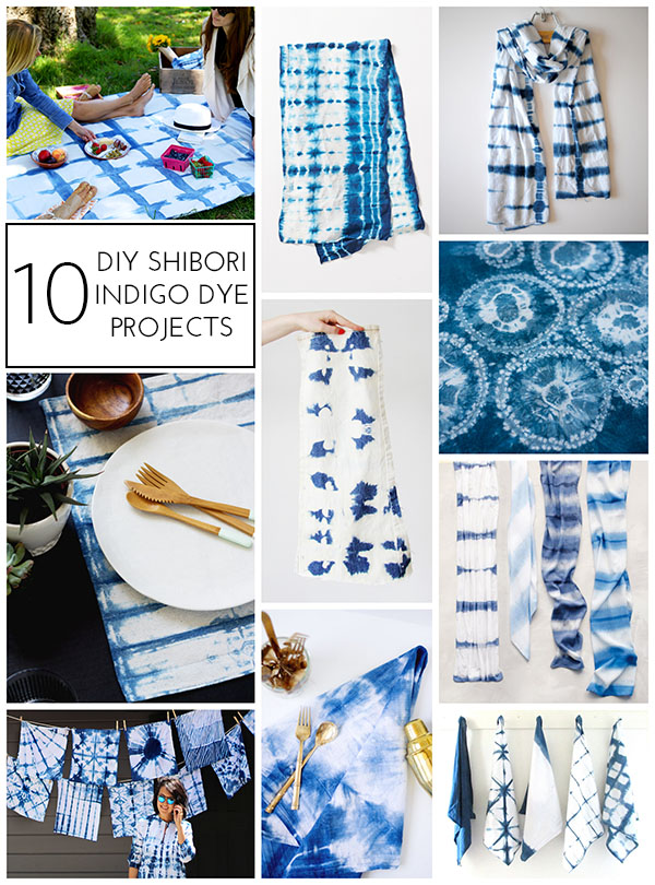 10 DIY Shibori Indigo Dye Projects - Homey Oh My