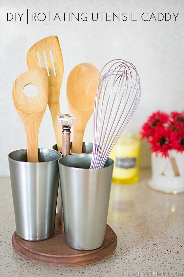 DIY Rotating Utensil Caddy