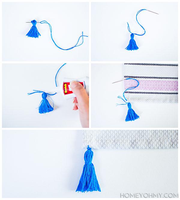 Sewing on tassel