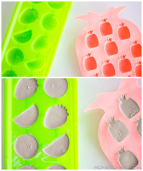 Cement filled ice trays
