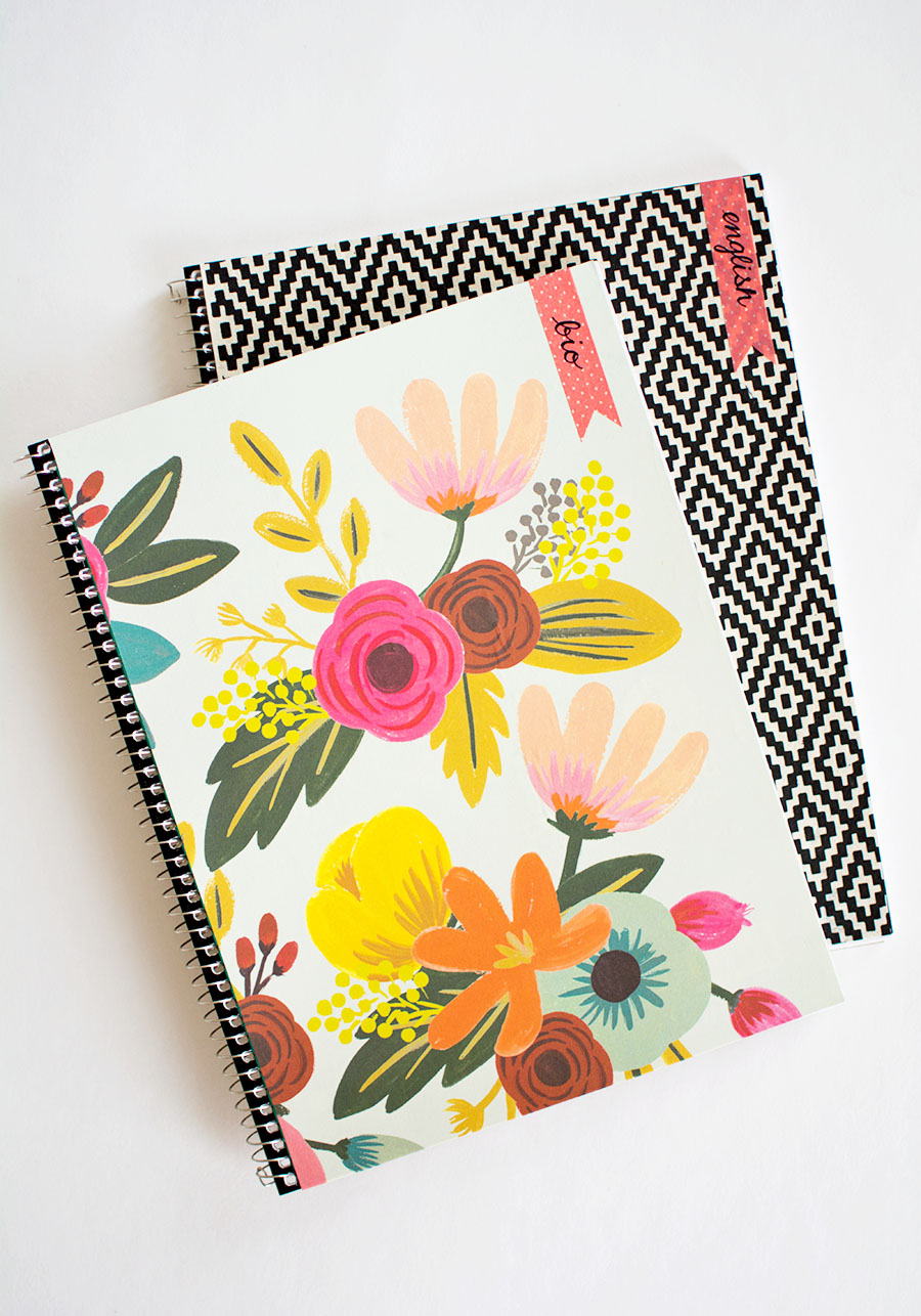 DIY Customizable Notebooks with labels