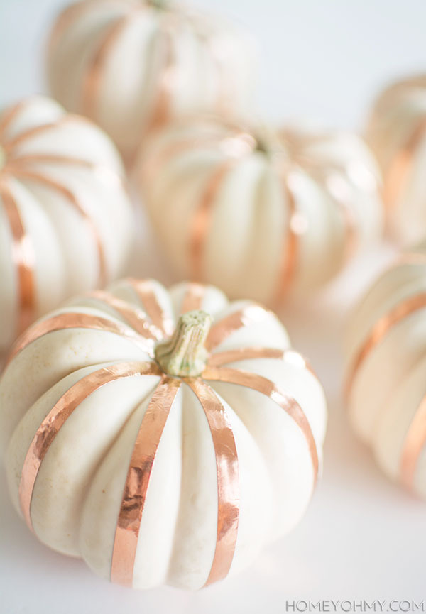 Copper Striped Pumpkins