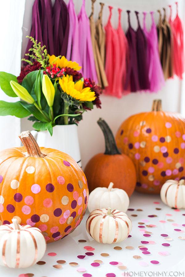 Confetti pumpkins