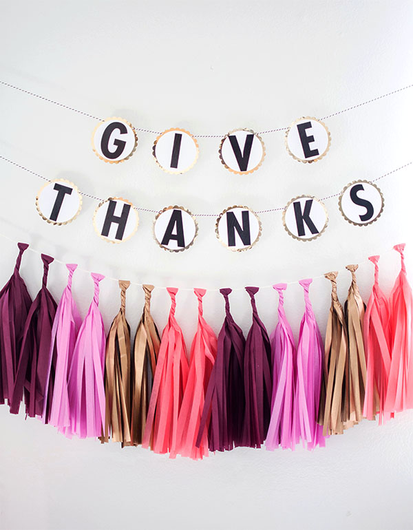 DIY Garland- Give Thanks