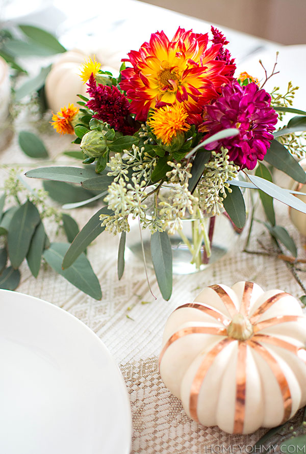 Fall Tablescape Flowers