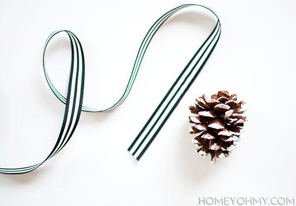 ribbon and pinecone