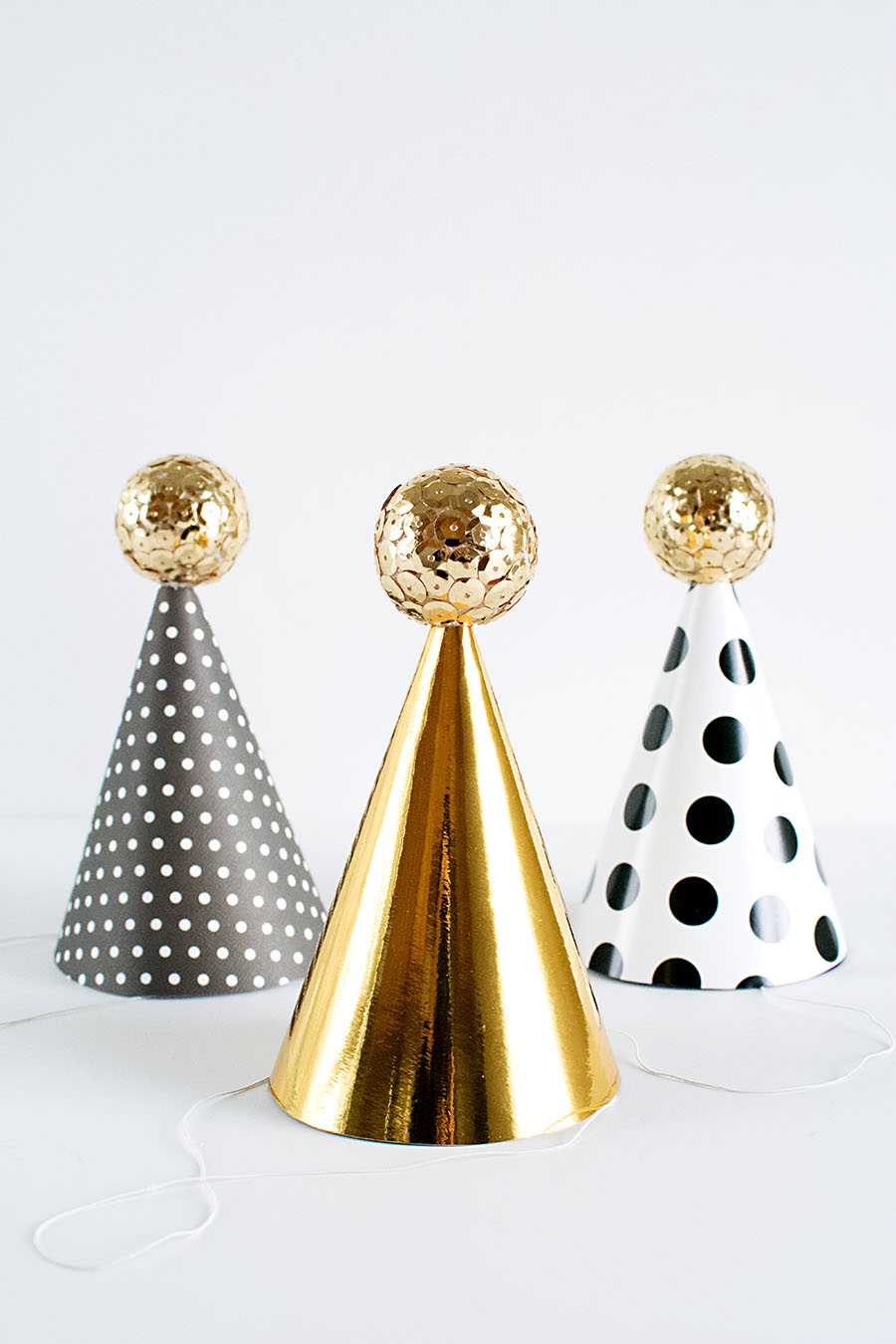 DIY Mini Party Hats for New Year's Eve