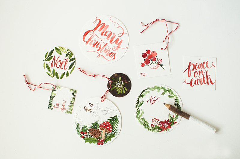 Christmas Gift Tags from Oana Befort