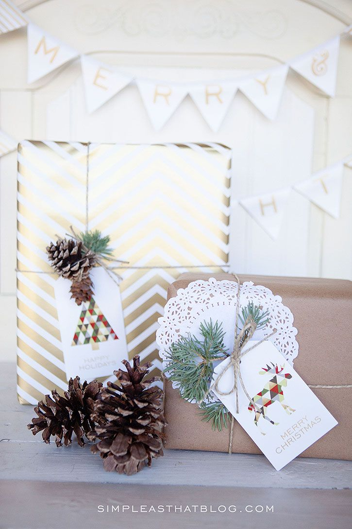 Merry and Bright Gift Tags from Simple As That