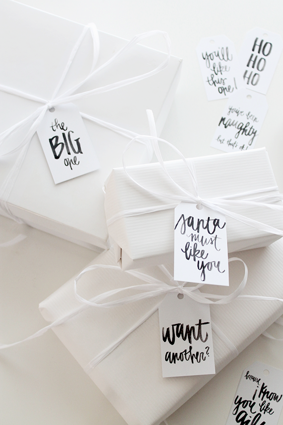 Holiday Gift Tags from Almost Makes Perfect