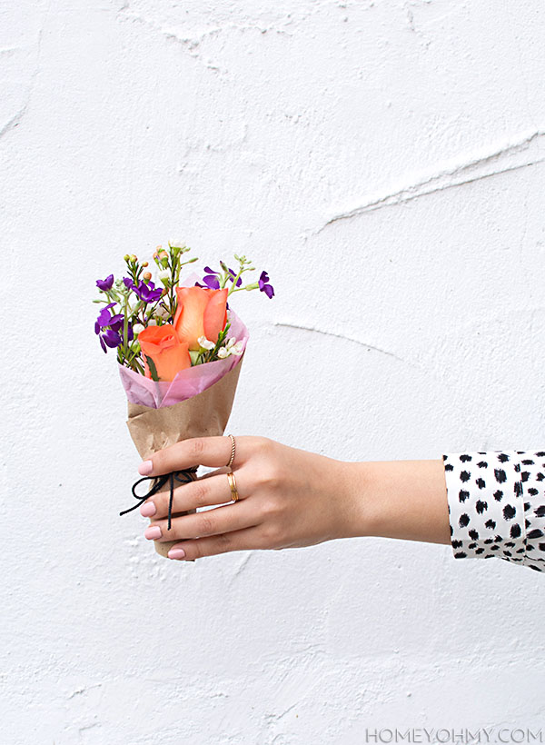 Mini Flower Bouquet DIY
